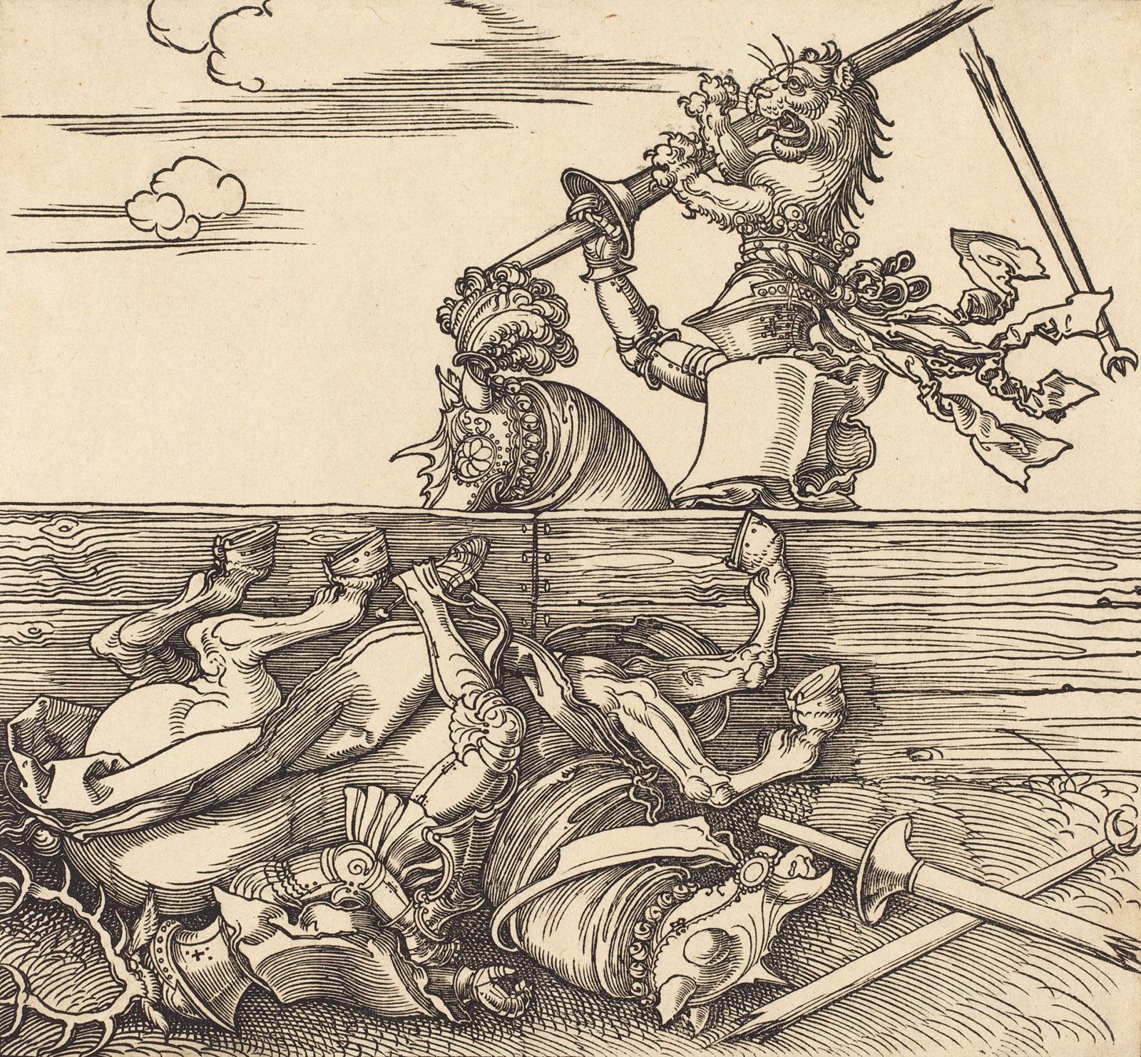 Italian Joust of Peace Between Jacob de Heere and Freydal, circa 1517–1518, drawing by Albrecht Dürer