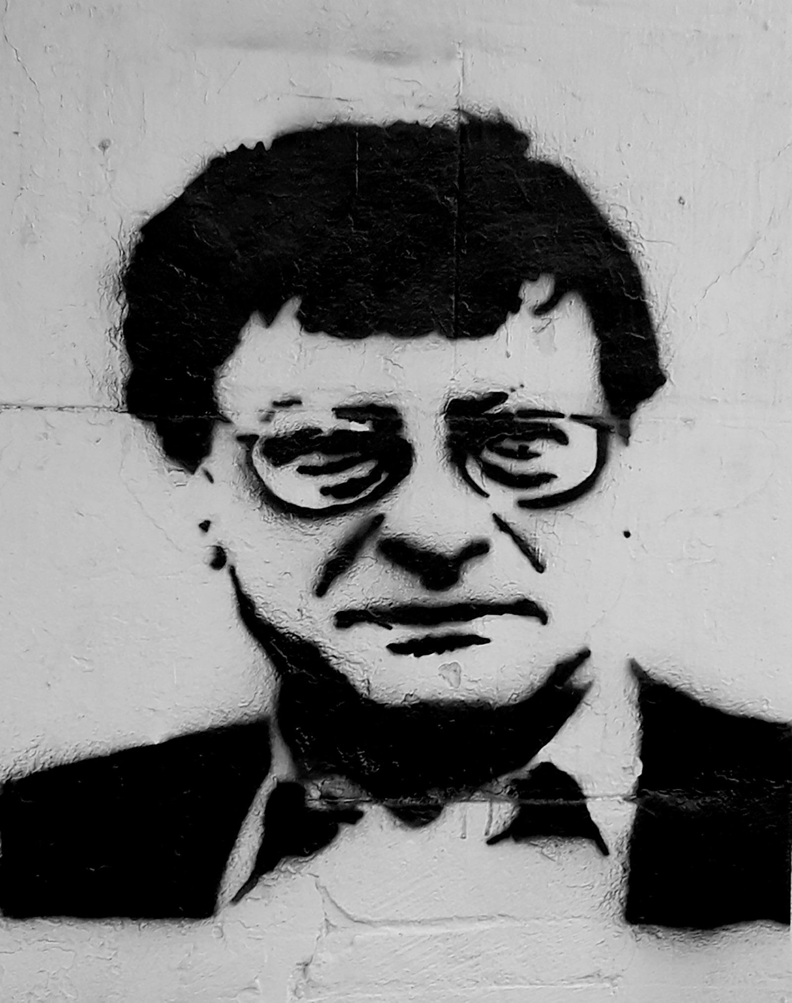 Graffiti of Mahmoud Darwish, Tunisia, 2017