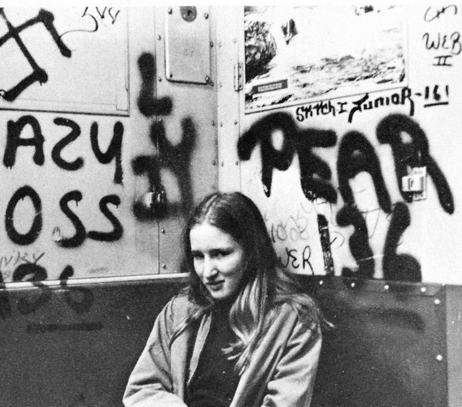 Rachel Cline on the subway as a teenager, Brooklyn, circa 1972