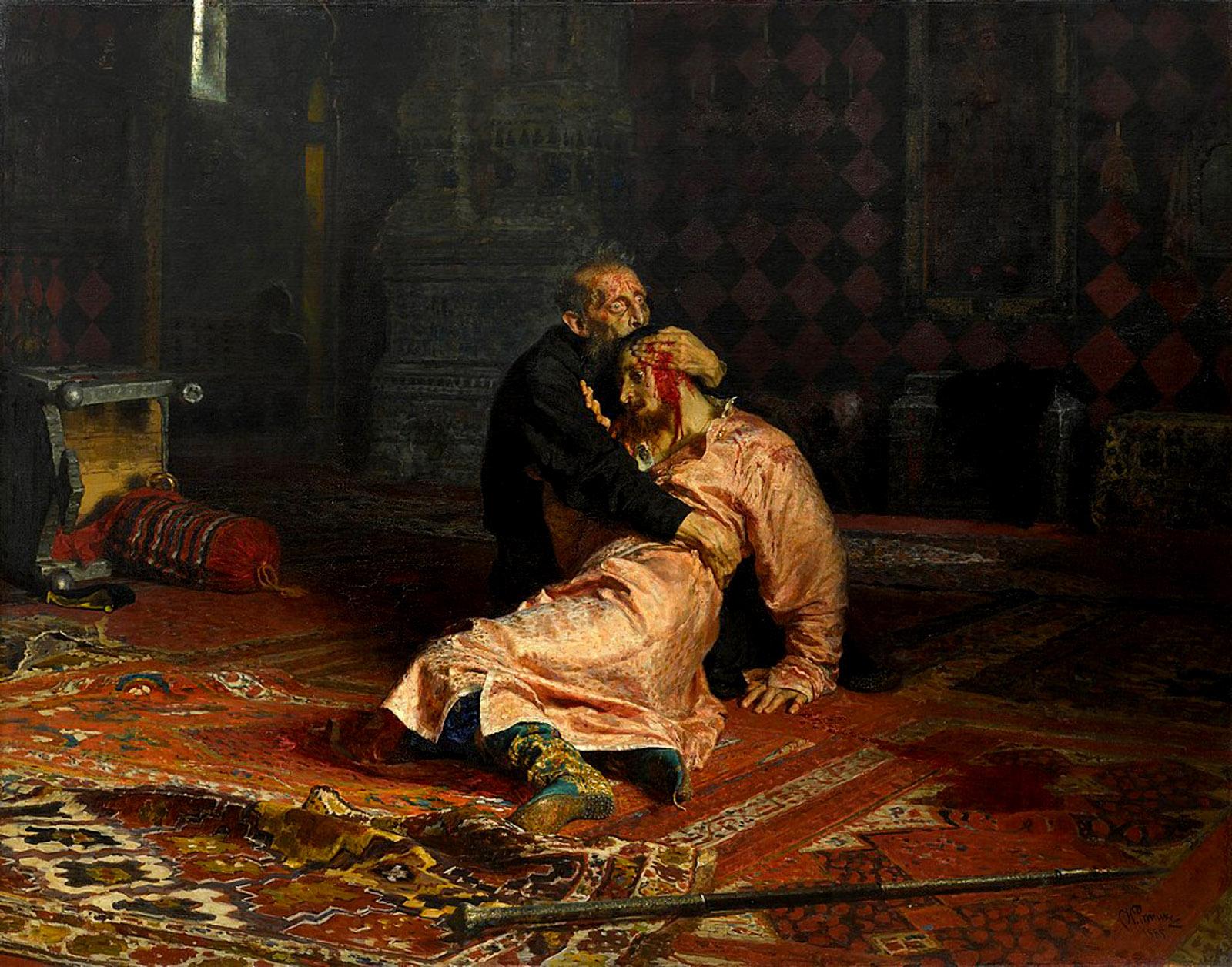 Ilya Repin: Ivan the Terrible and His Son Ivan, 1885