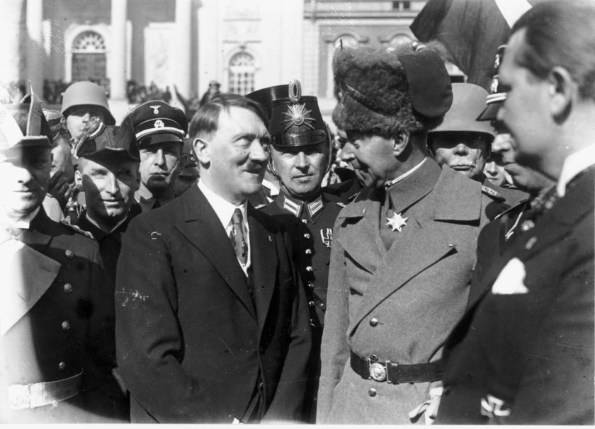 Adolf Hitler and 'Crown Prince' Wilhelm during the Day of Potsdam celebrations, Potsdam, Germany, March 21, 1933