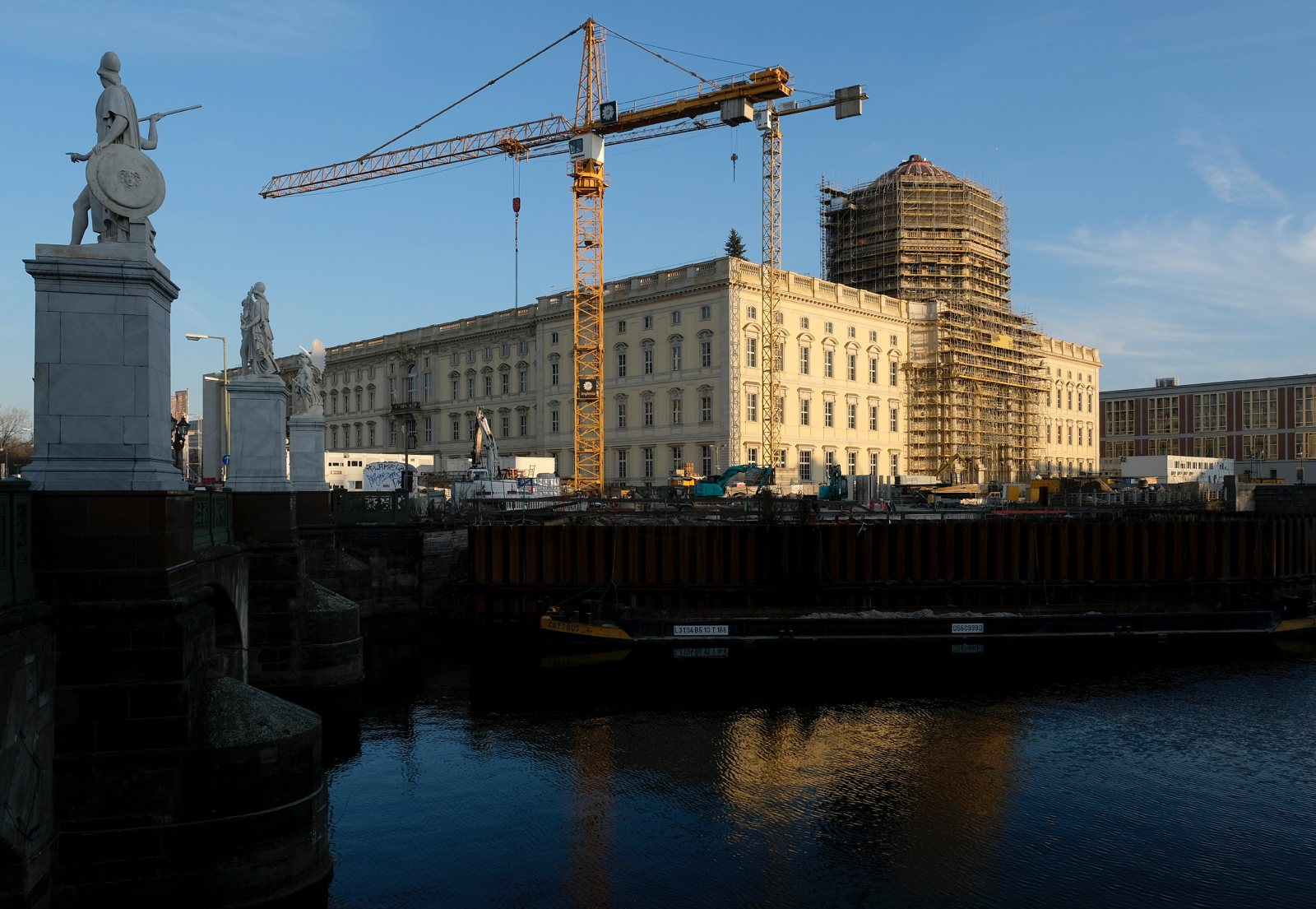The reconstruction of the Berlin Palace, January 2020