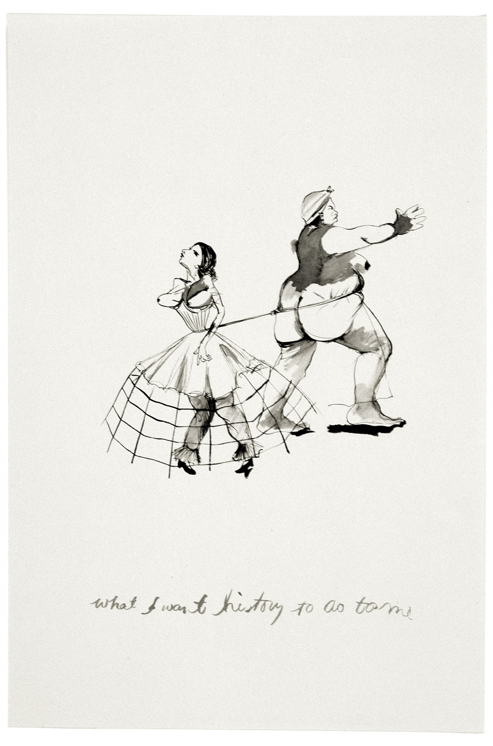 what I want history to do to me, 1994; drawing by Kara Walker