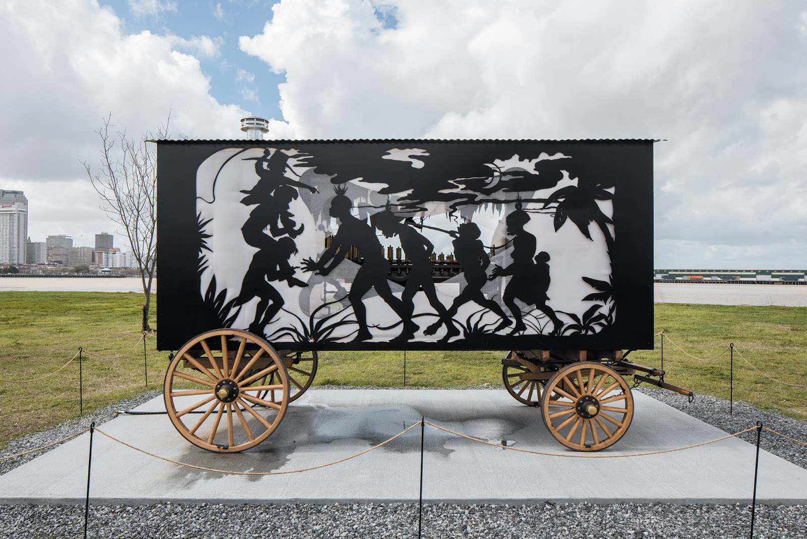 The Katastwóf Karavan, 2017: installation by Kara Walker
