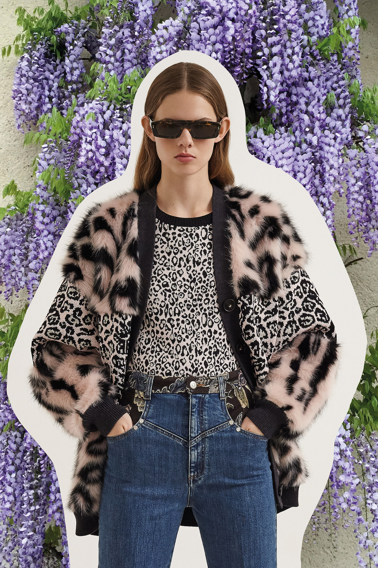 A 'fur-free-fur' cardigan from Stella McCartney's Resort 2020 line, which will feature a sustainable capsule collection