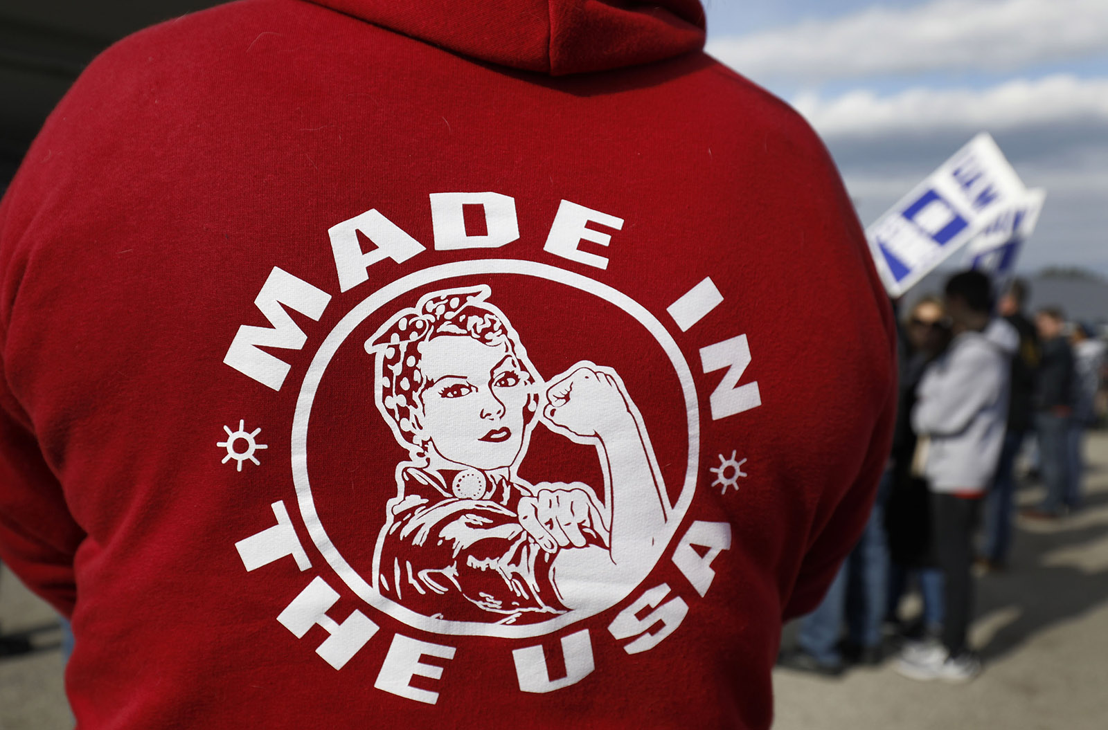 United Auto Workers rally