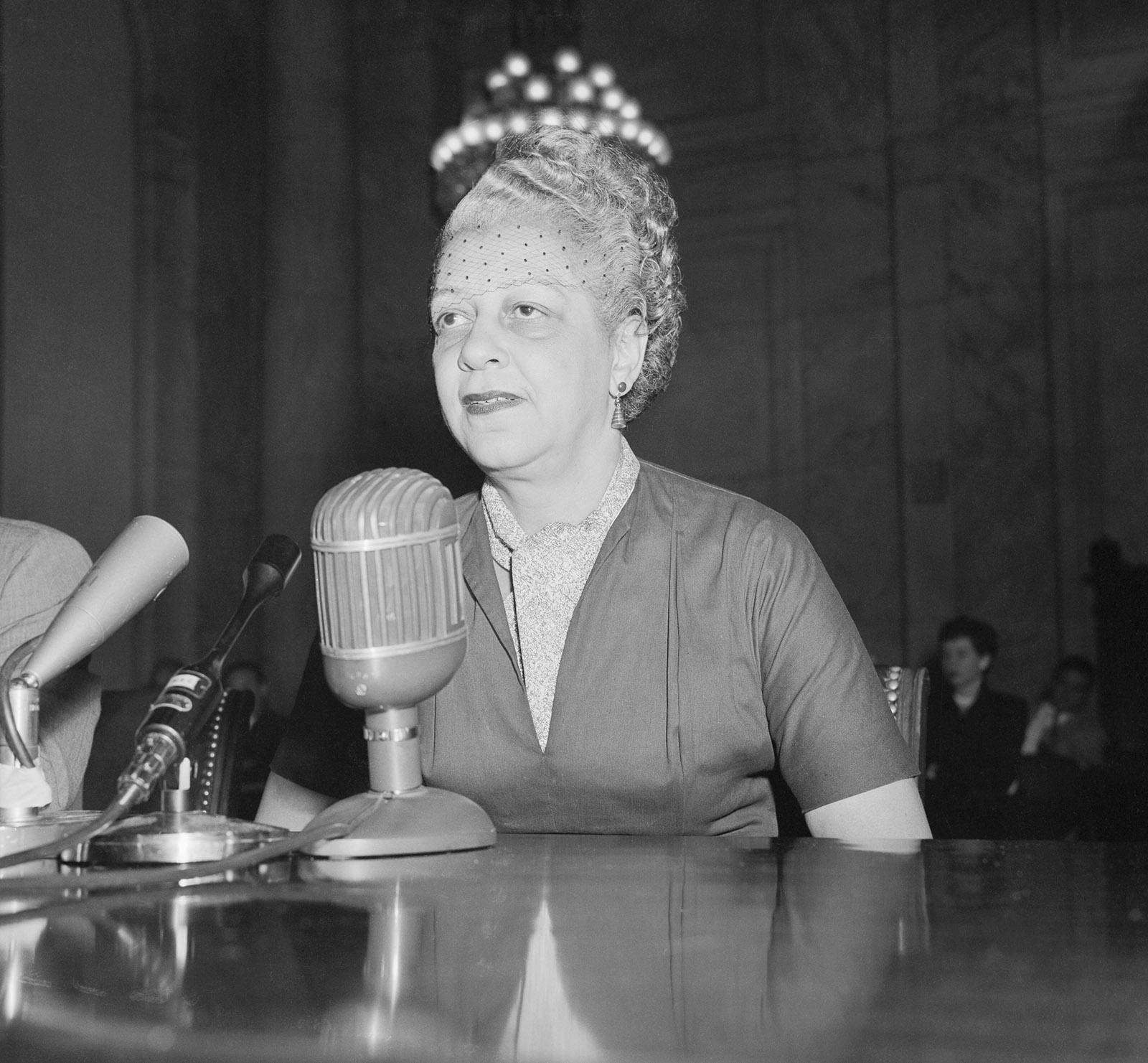 A witness before a McCarthy hearing, Washington, 1953