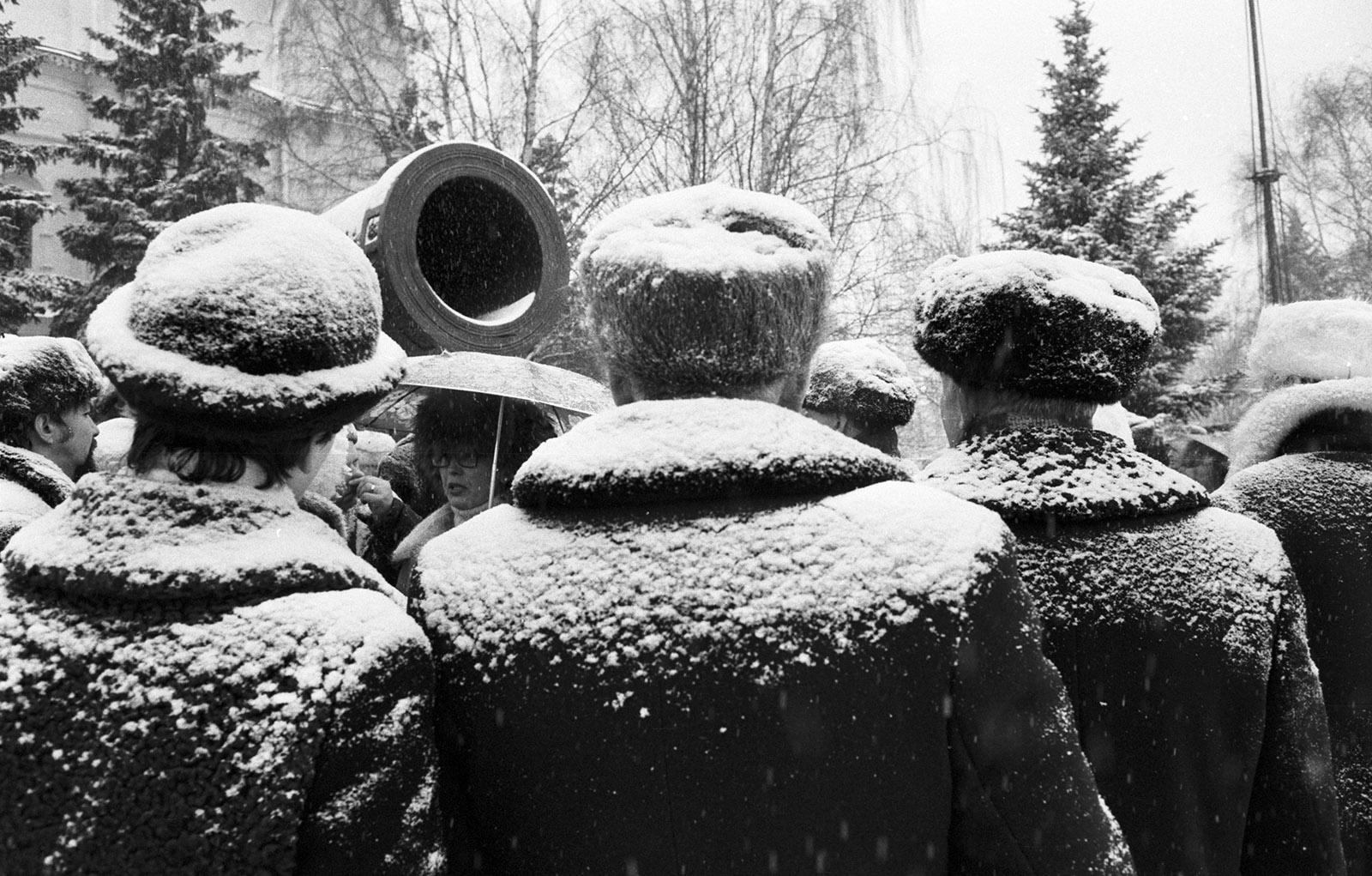 Muscovites in the snow, 1983