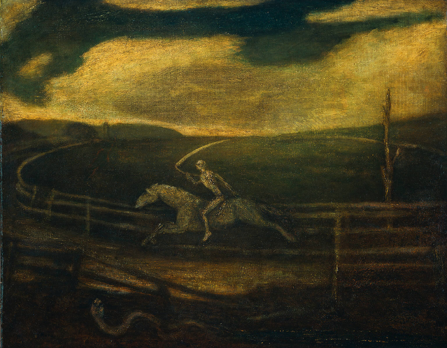 Albert Pinkham Ryder: The Race Track (Death on a Pale Horse), 1900