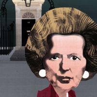 Margaret Thatcher; illustration by Ellie Foreman-Peck