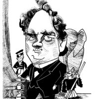 P.T. Barnum; drawing by Tom Bachtell