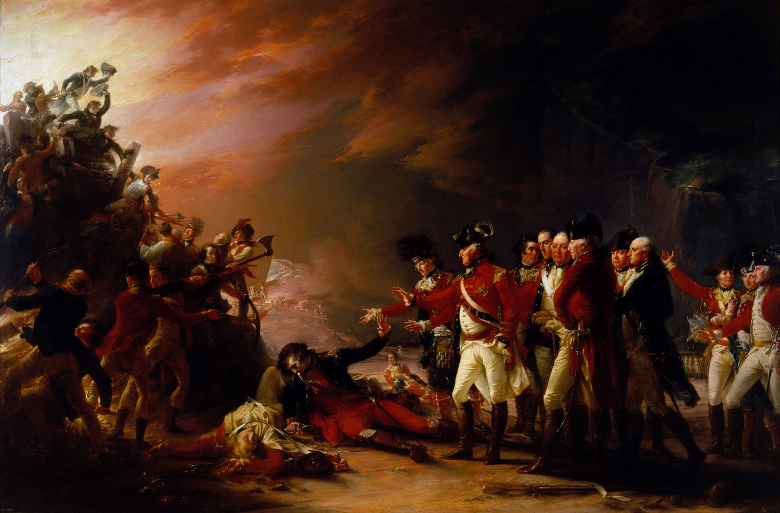 The Sortie Made by the Garrison of Gibraltar; painting by John Trumbull