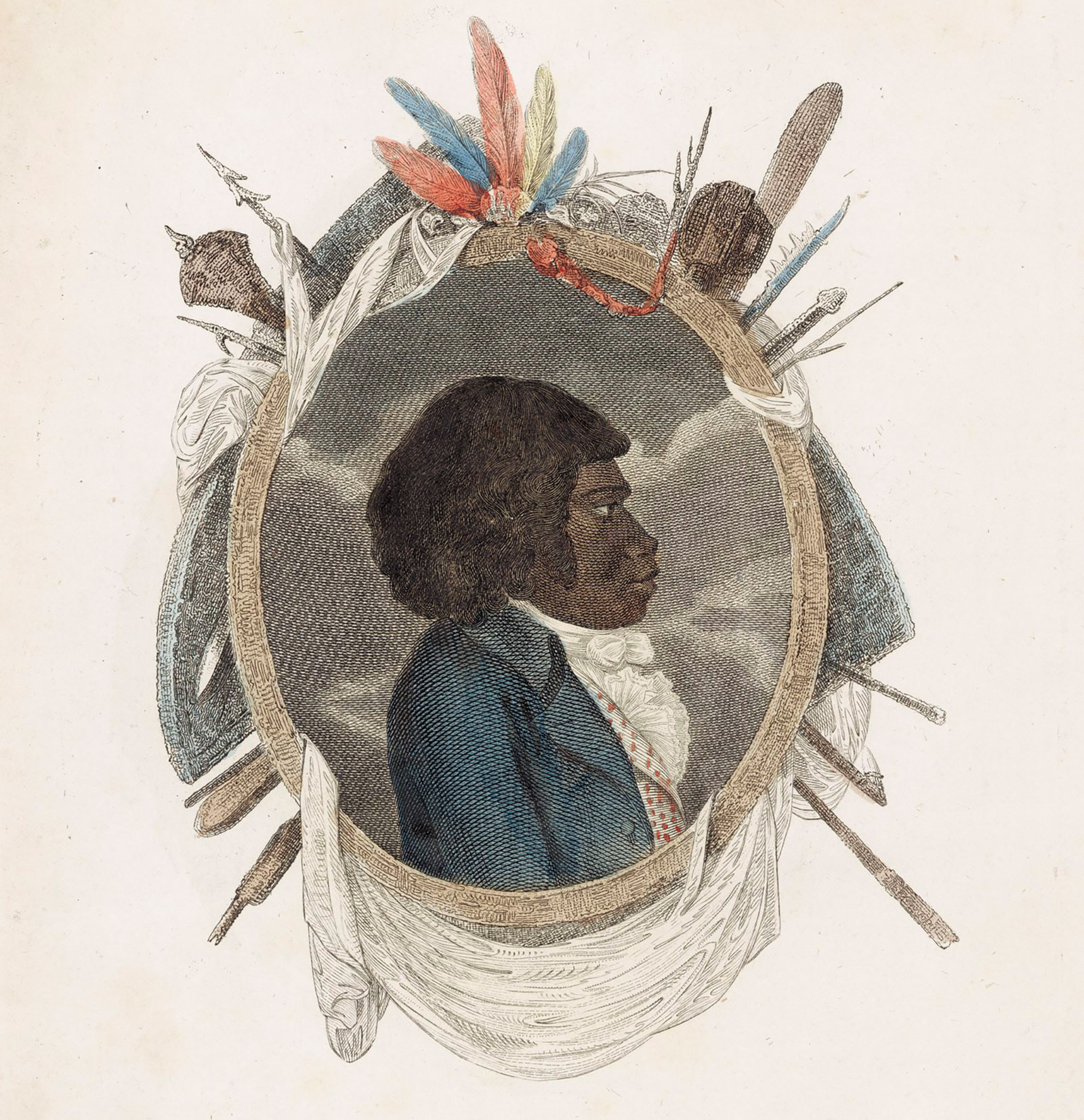 A portrait of Bennelong, an Aboriginal Australian who was kidnapped by British colonists