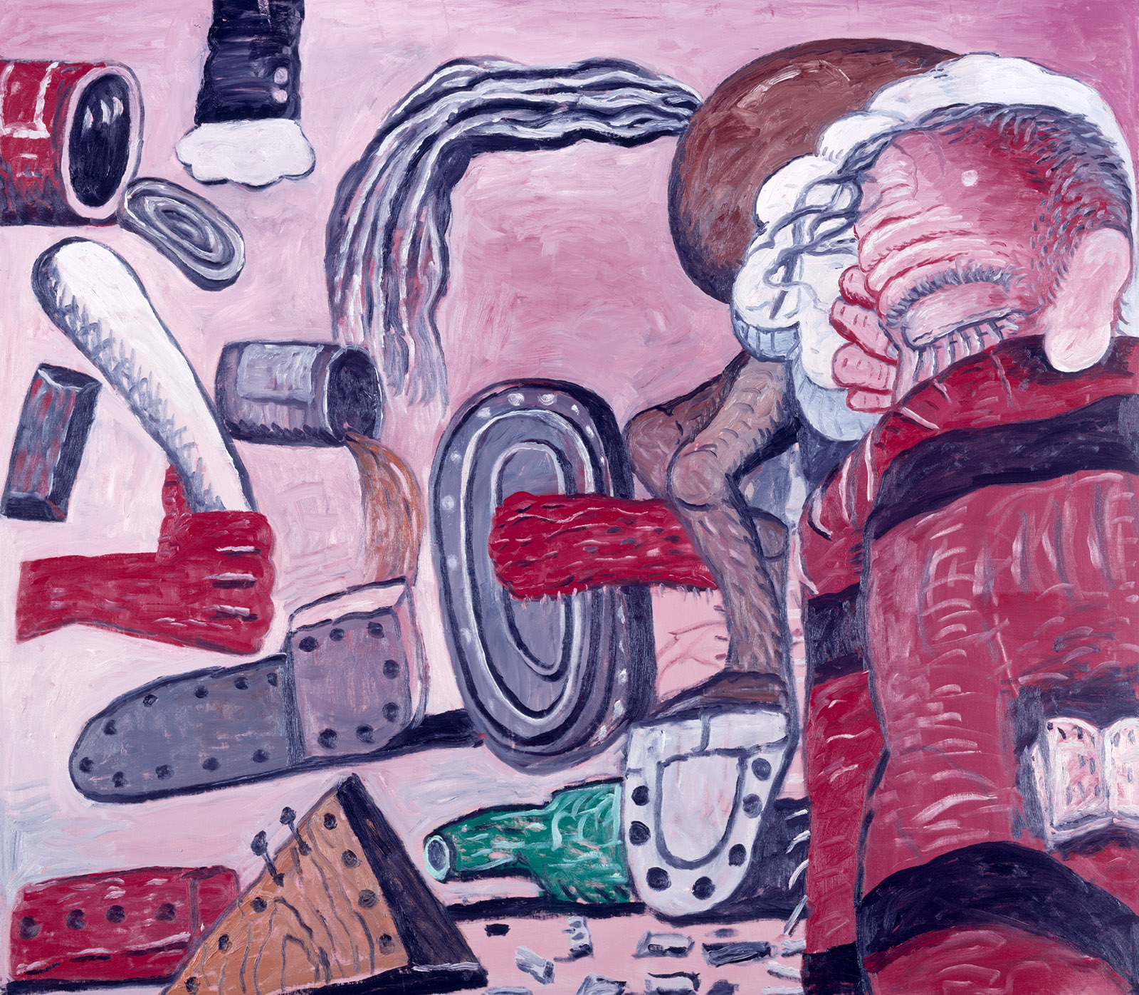 A painting by Philip Guston