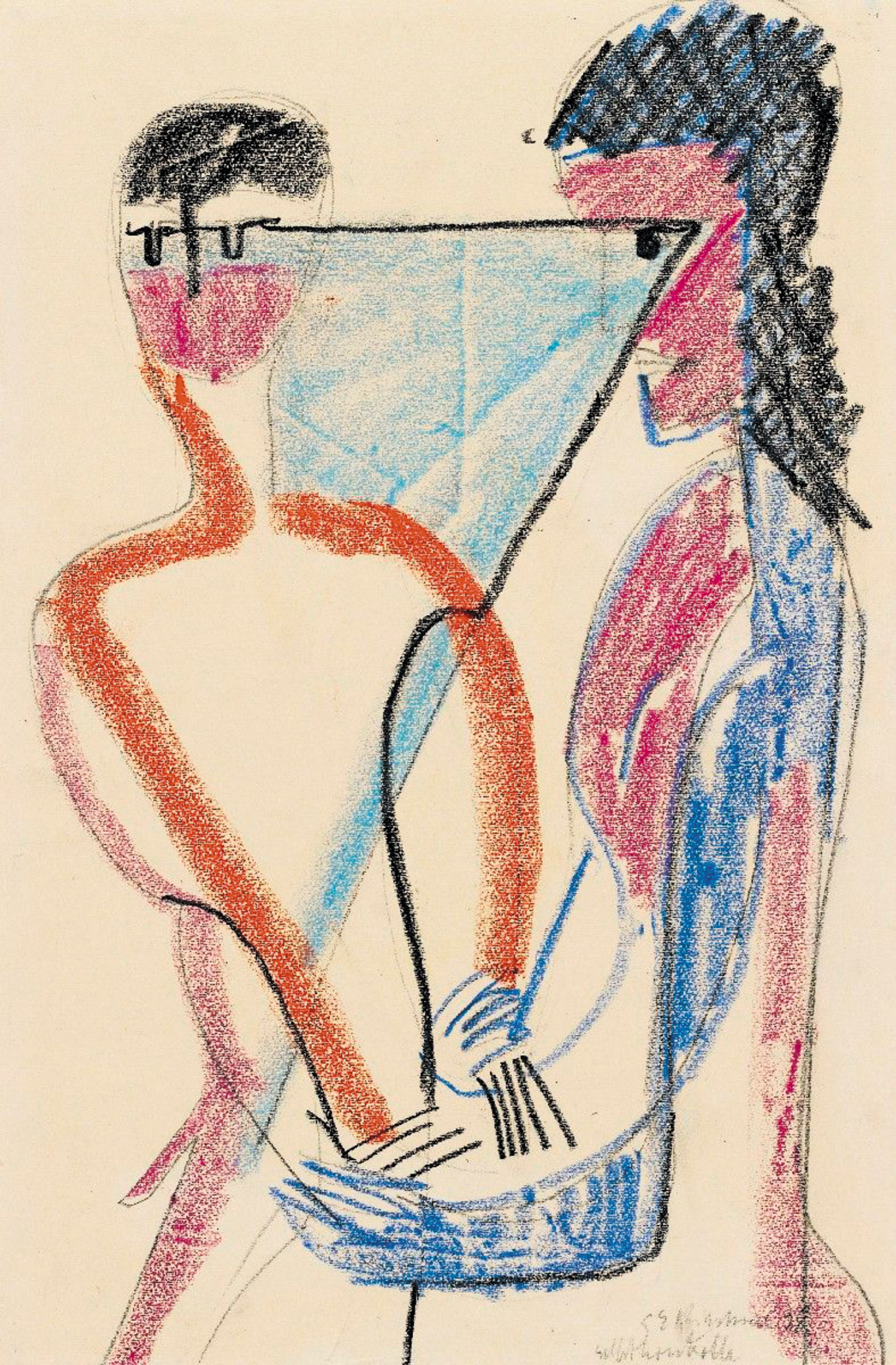 Self-Control; drawing by Ernst Ludwig Kirchner