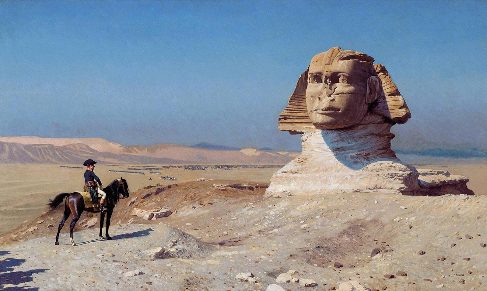 Bonaparte Before the Sphinx; painting by Jean-Léon Gérôme