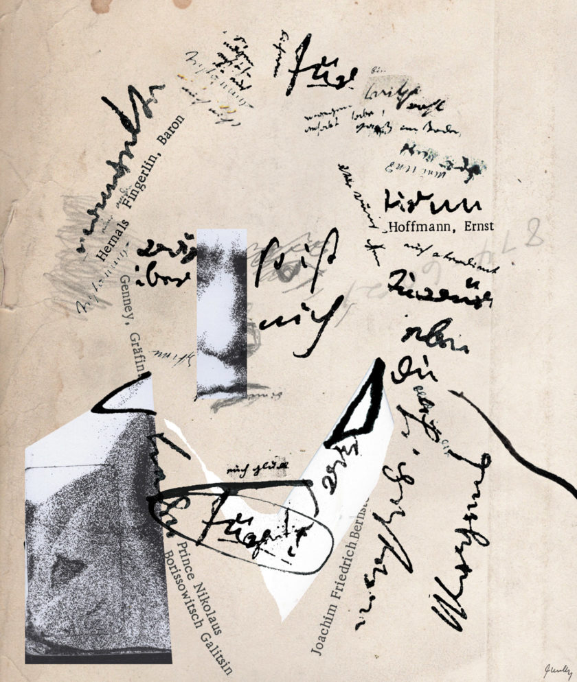Beethoven; illustration by Joanna Neborsky