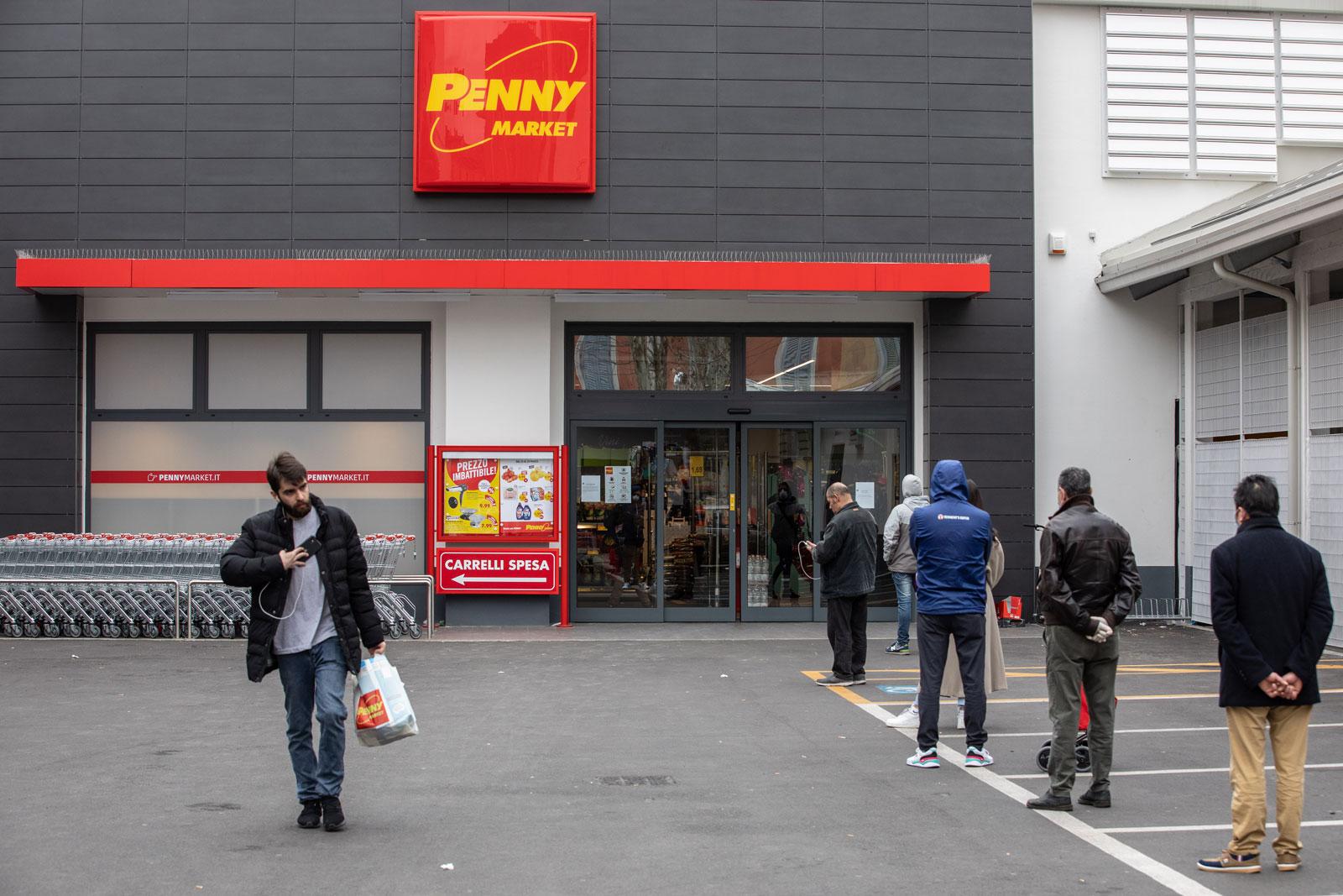 A Milan supermarket amid the coronavirus outbreak
