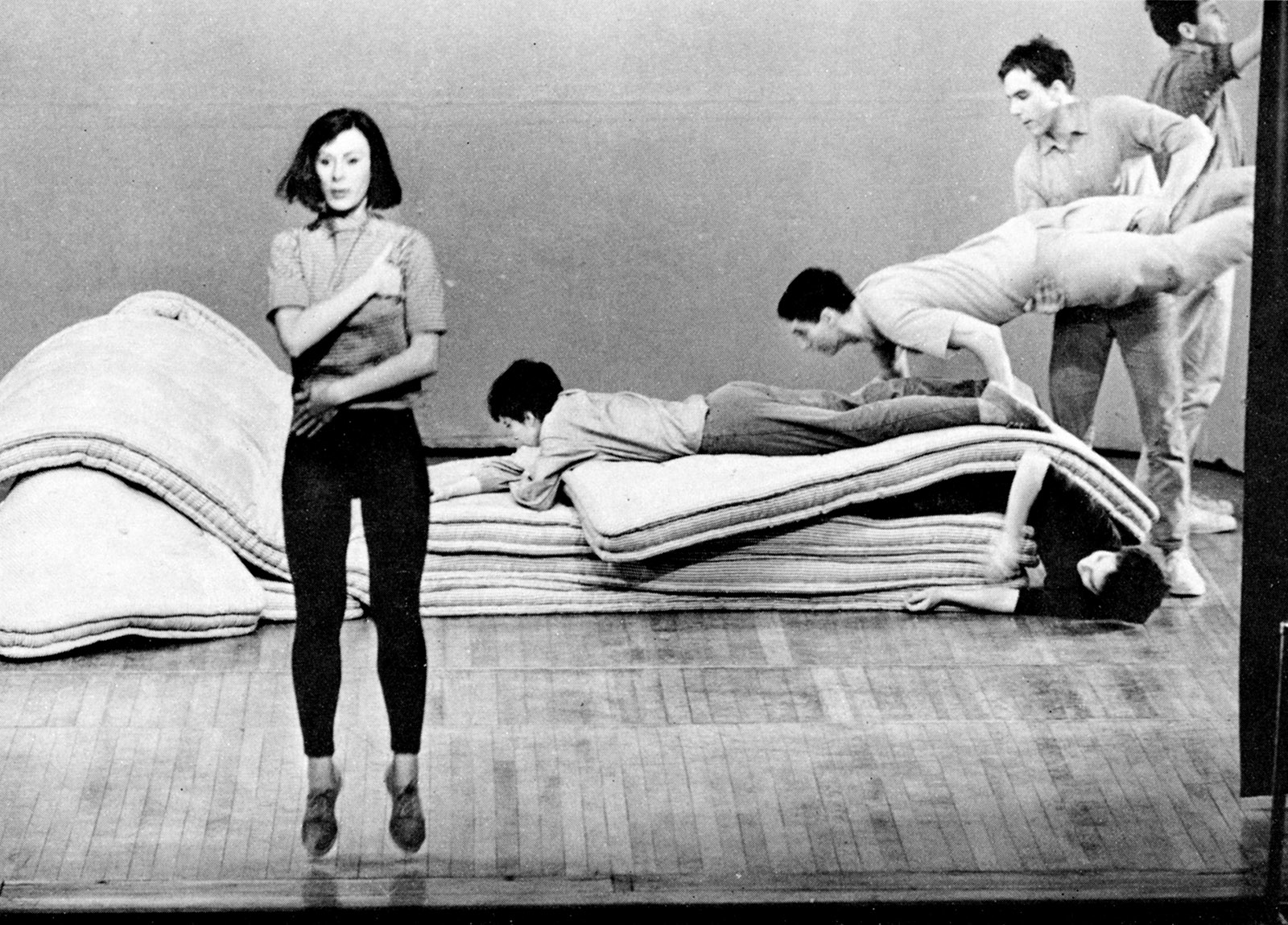 Yvonne Rainer performing 'Corridor Solo' and 'Crawling Through'