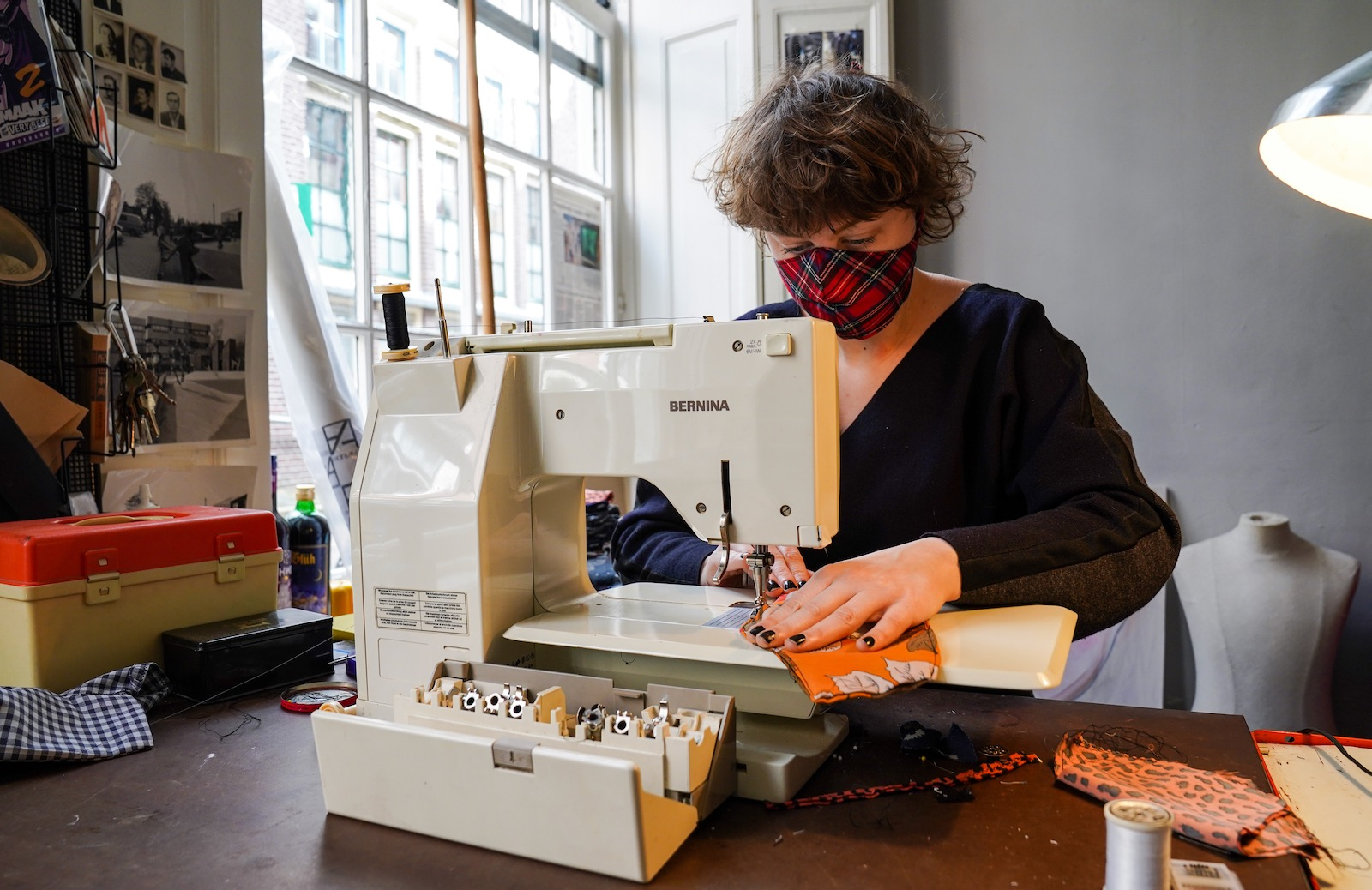 Making face masks amid the coronavirus outbreak, Haarlem, Netherlands, April 4, 2020