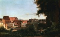 Jean-Baptiste-Camille Corot: The Colosseum: View from the Farnese Gardens, 1826