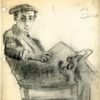Self-portrait by Samuel Greenberg, 1916