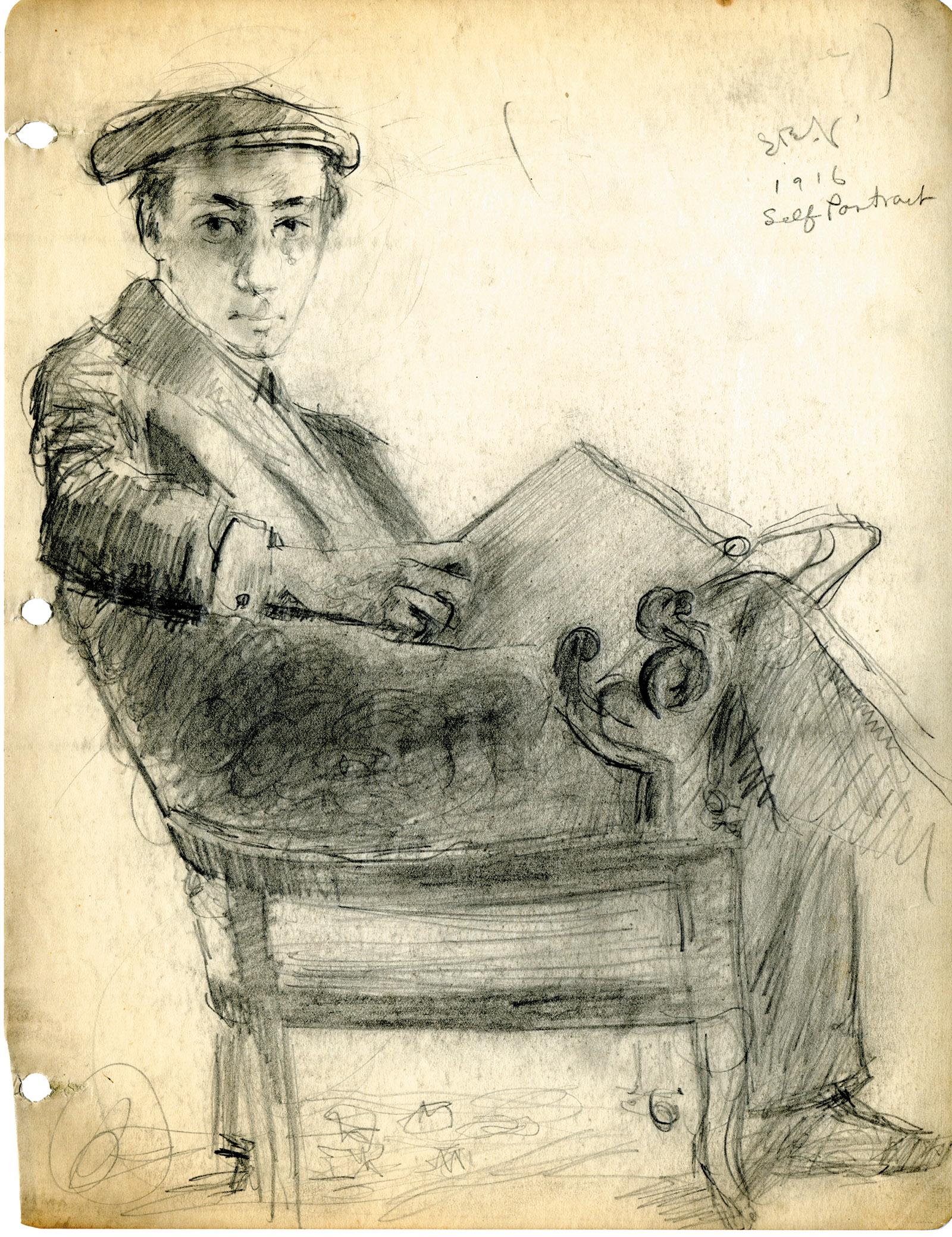 Self-portrait by Samuel Greenberg