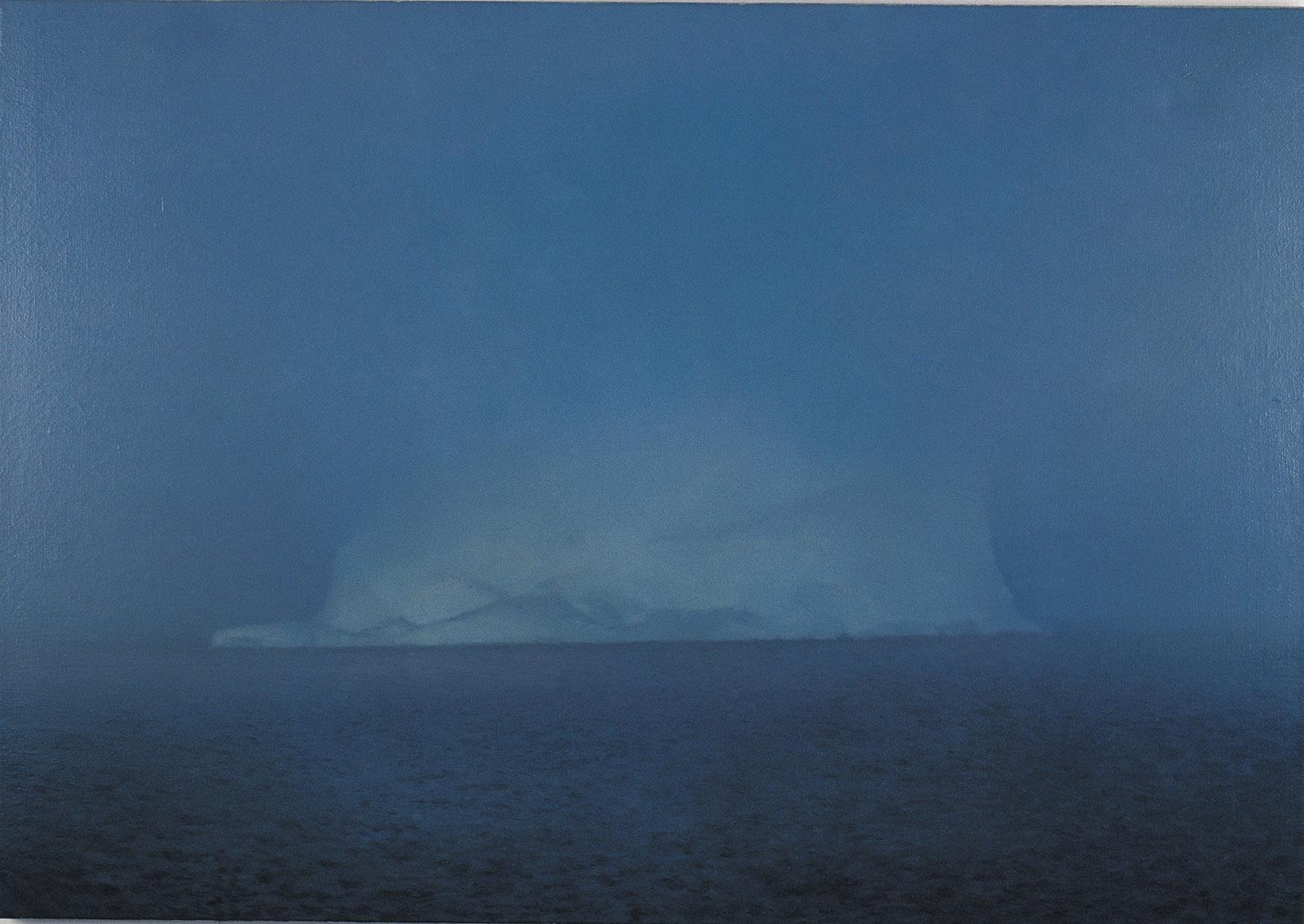 Iceberg in Mist; painting by Gerhard Richter