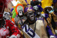 Members of the Zulu Social Aid and Pleasure Club parading down St. Charles Avenue on Fat Tuesday, New Orleans, Louisiana, February 25, 2020