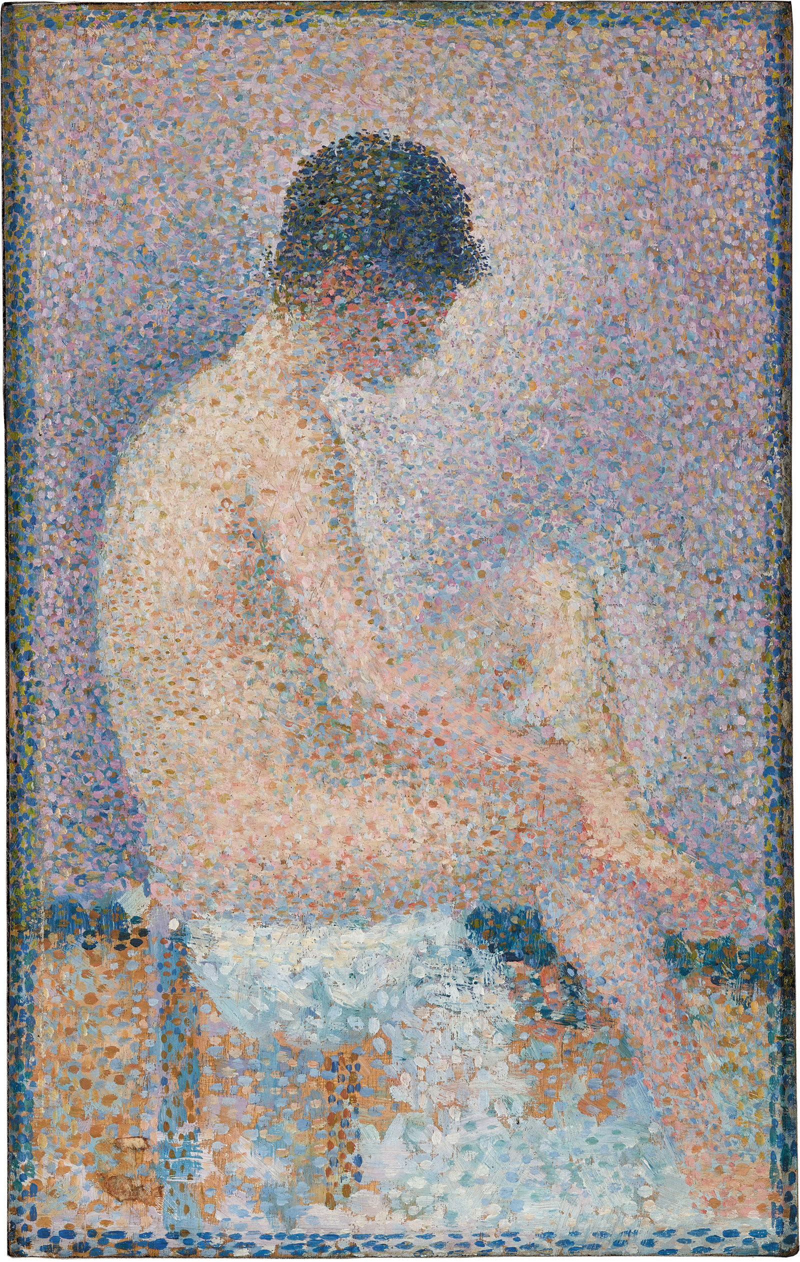 Model in Profile; painting by Georges-Pierre Seurat