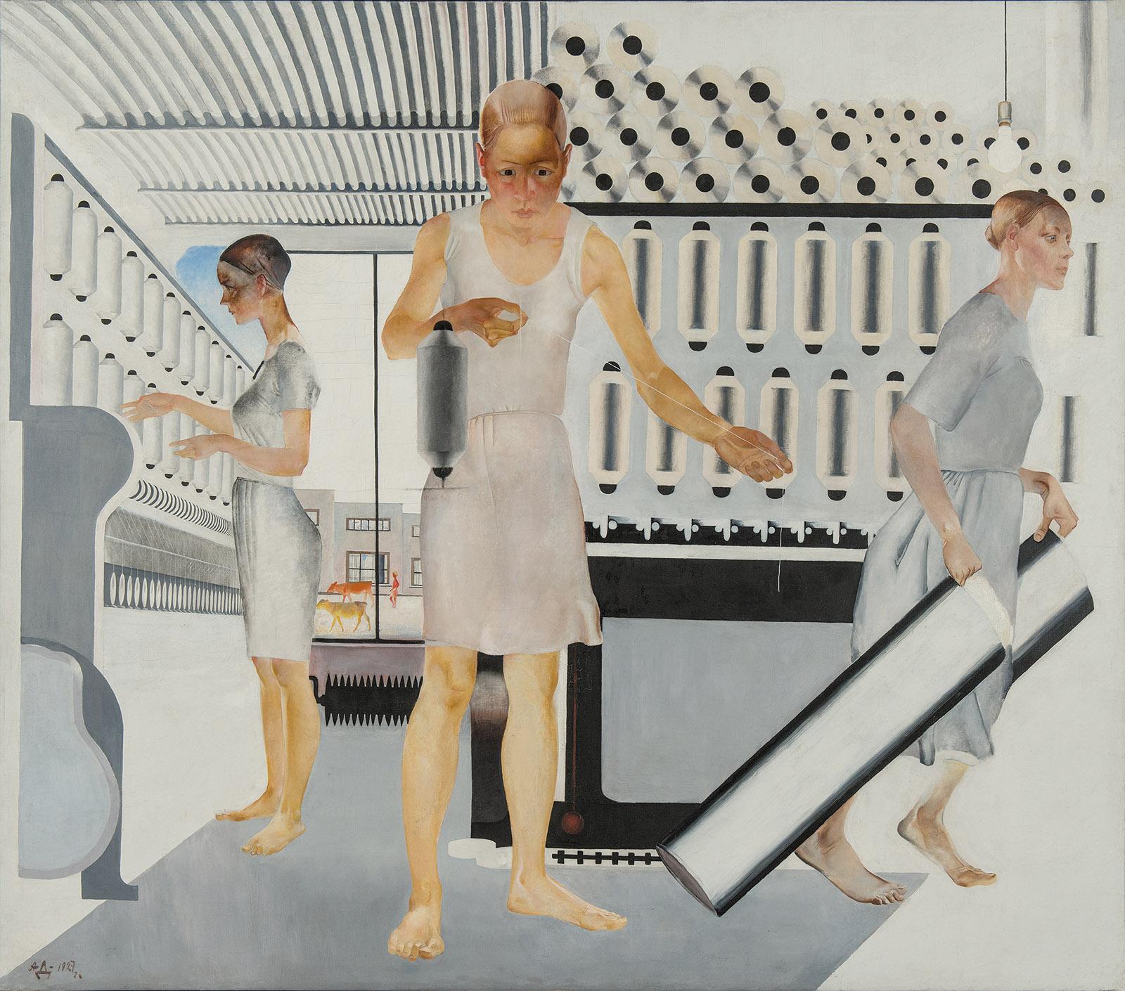 Textile Workers; painting by Aleksandr Deineka