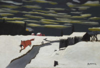 Horace Pippin: The Getaway, 24 5/8 x 36 inches, 1939