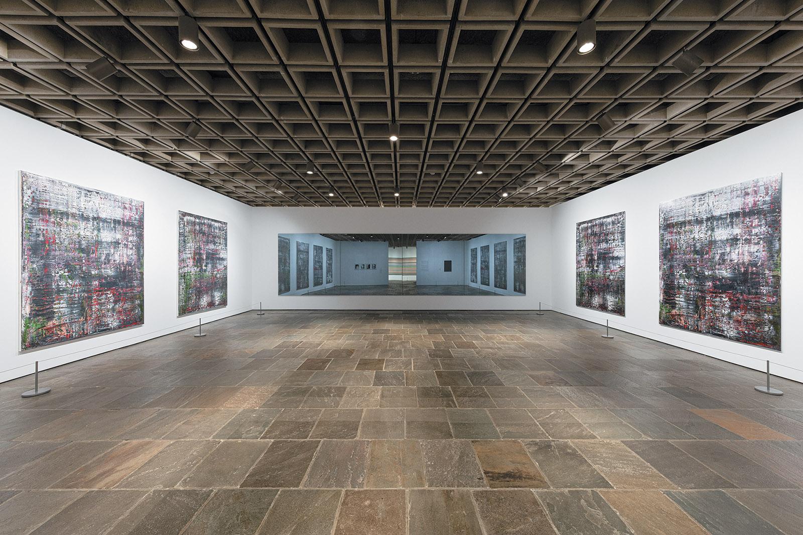 Gallery installation view of Gerhard Richter's Birkenau