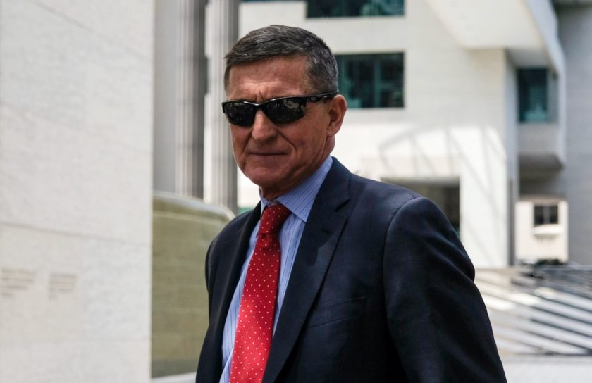 Former National Security Adviser Michael Flynn leaving a court hearing, Washington, D.C., June 24, 2019