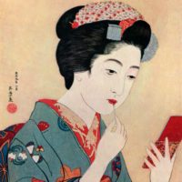 Detail from an illustration by Hashiguchi Goyo, from Apollo magazine, 1930