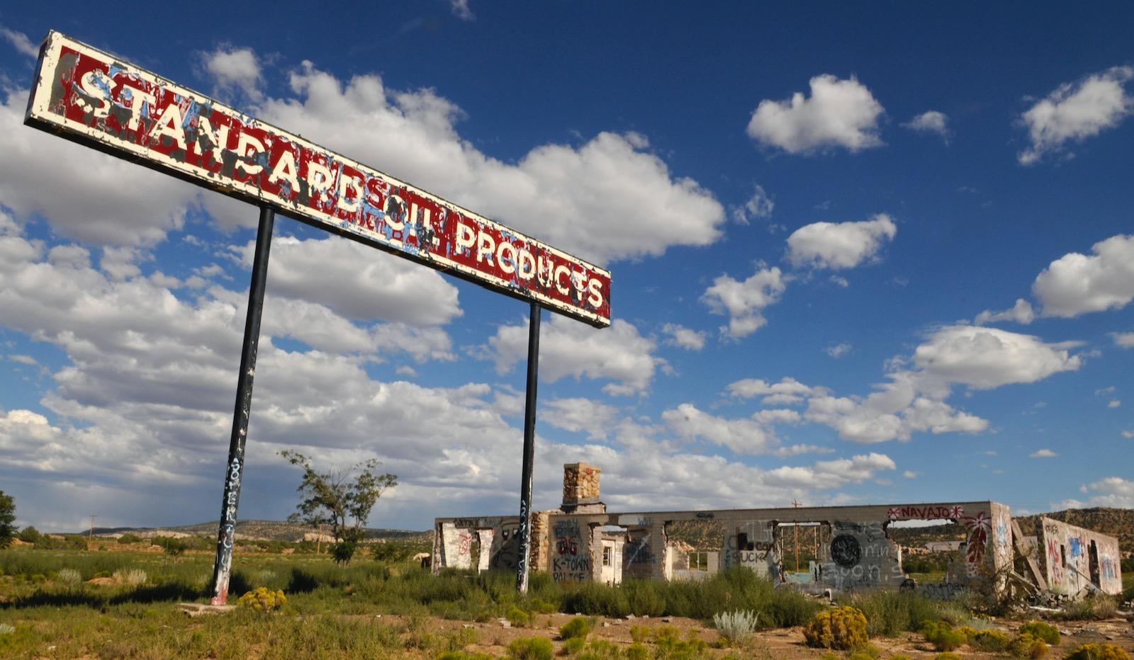 An abandoned Standard Oil gas station, Tonalea, Arizona, 2008