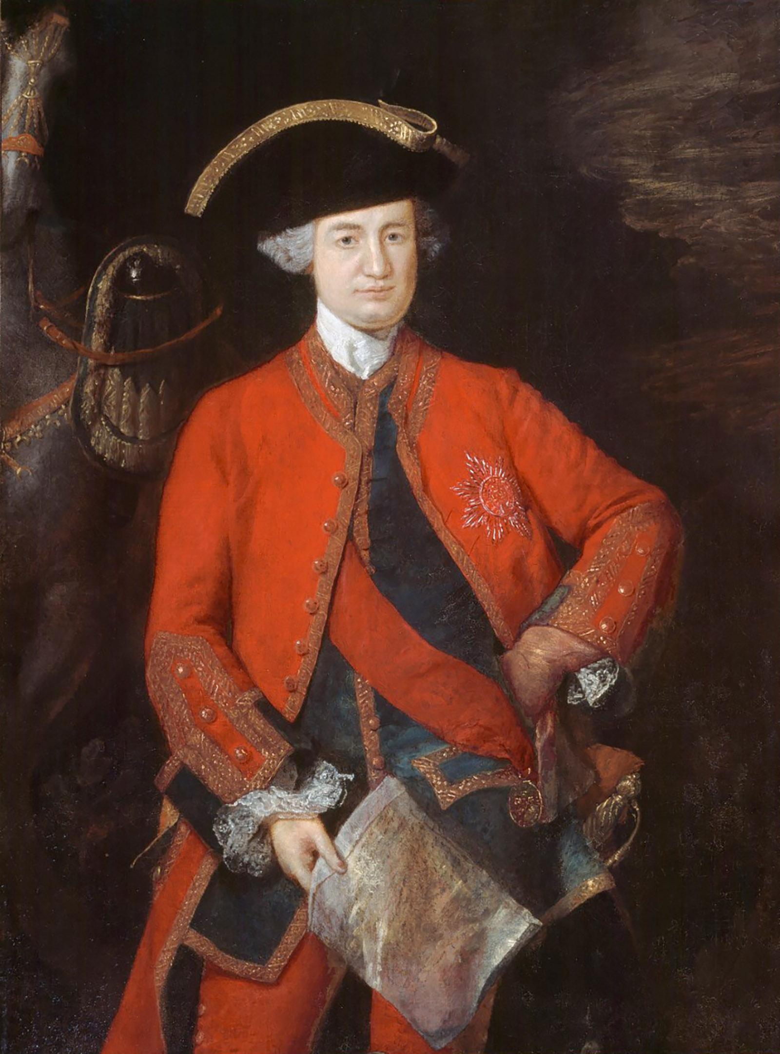 Robert Clive; portrait by Thomas Gainsborough