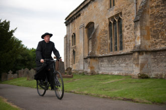 Mark Williams as Father Brown in Father Brown, 2013-ongoing