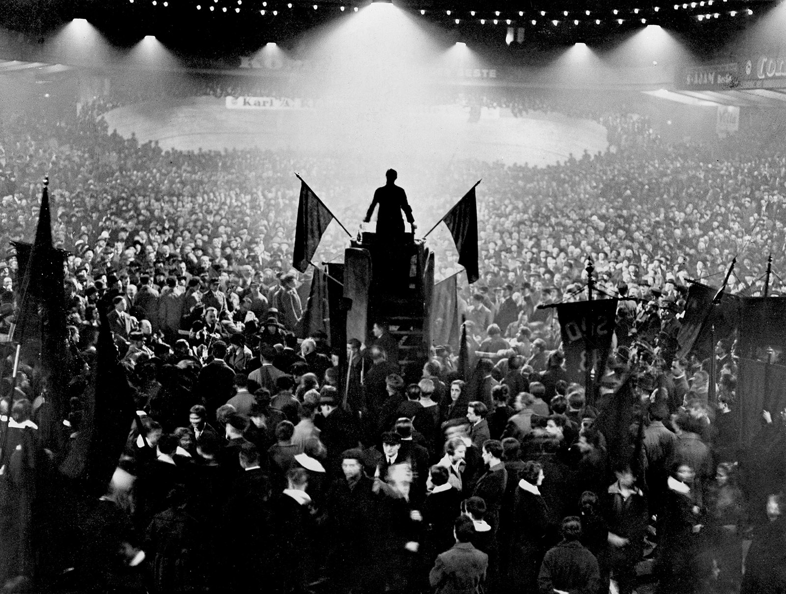 A rally in support of the Weimar Republic in the Sportpalast, Berlin, 1925