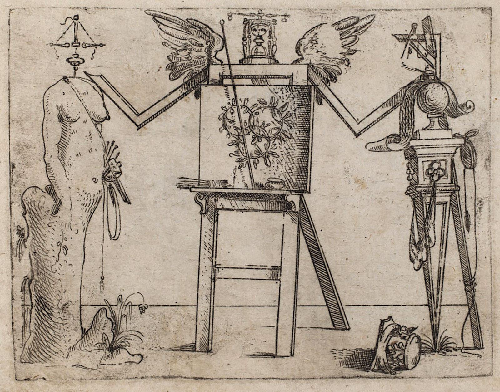 Etching by Giovanni Battista Bracelli