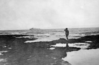 British warships arriving at Donegal Bay during the Irish Civil War, July 1922