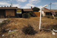 A deteriorating bank-owned house, Moreno Valley, California, August 2008
