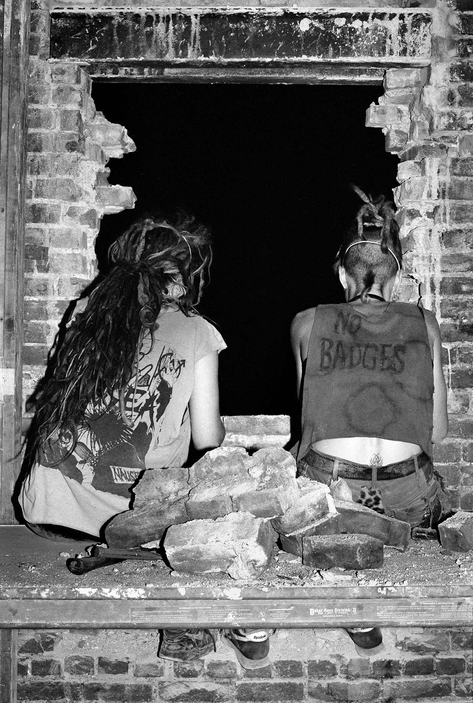 Photograph of squatters in the Lower East Side, 1994