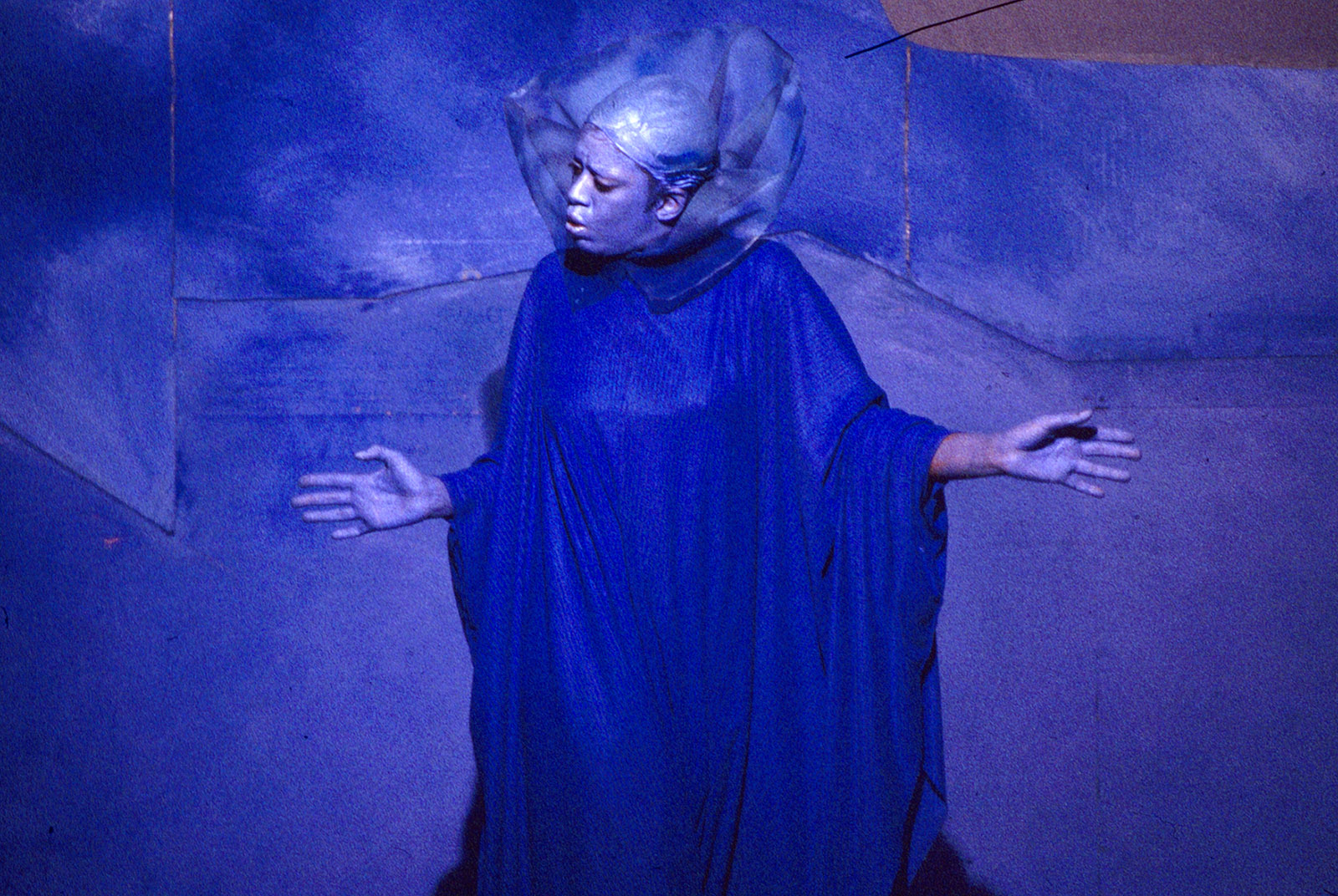 Jeanne Lee in Kinetic Colors—Blue, New York City, 1985