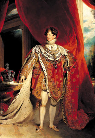 Coronation portrait of George IV by Thomas Lawrence, 1821