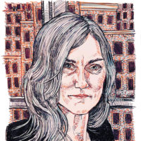 Nell Zink; drawing by Hope Gangloff