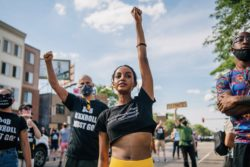 Sumaya Aden, one of the leaders of a protest calling for police union chief Lt. Bob Kroll to be fired, Minneapolis, Minnesota, June 25, 2020