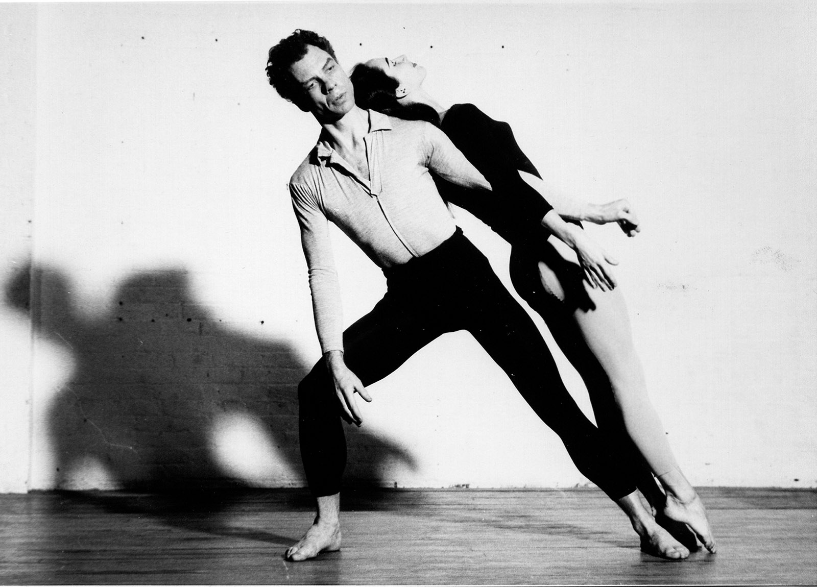 Merce Cunningham and Carolyn Brown in Suite for Five