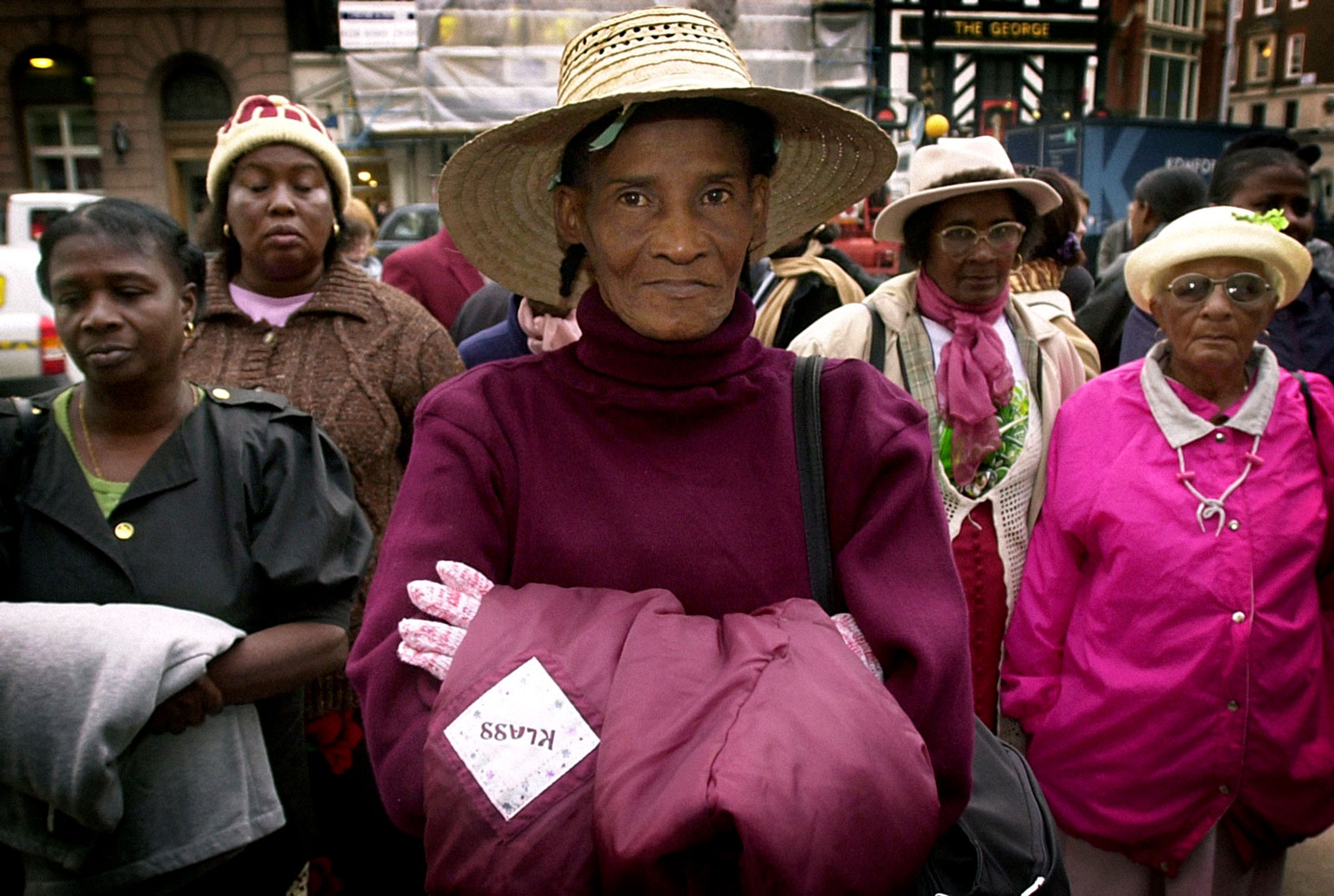 Former inhabitants of Chagos Archipelago, the last British colony in Africa, claiming compensation for being exiled from their homes, High Court, London, October 31, 2002