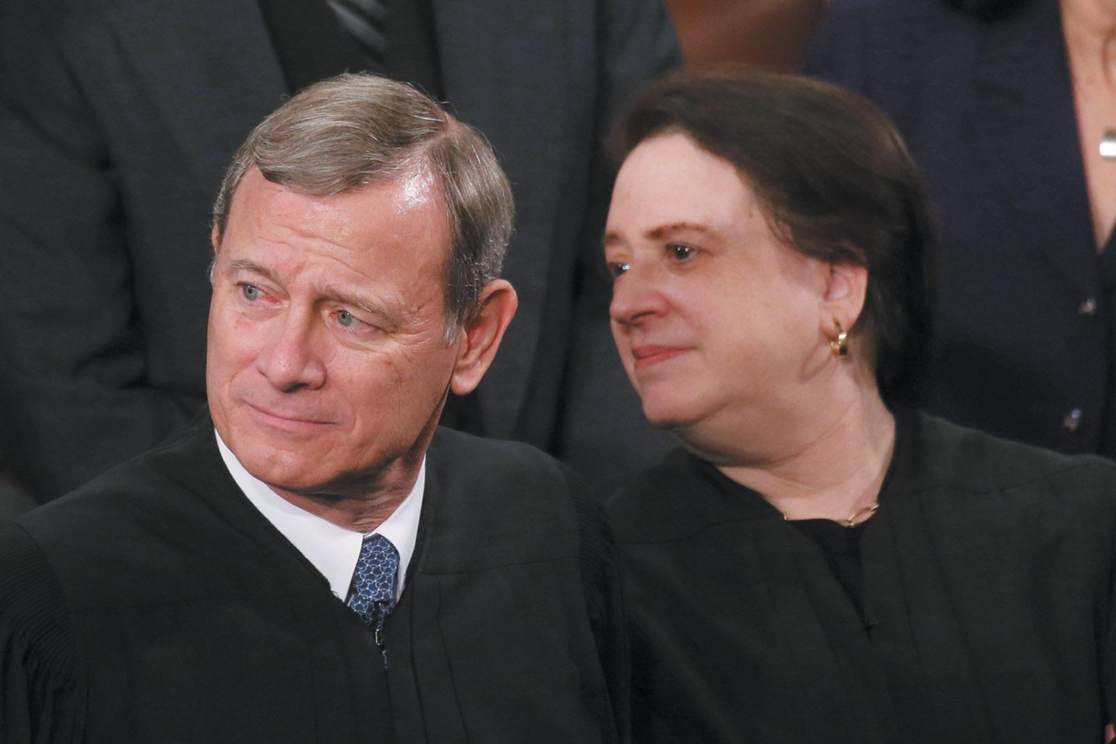 John Roberts and Elena Kagan